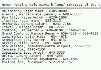 Daftar Nomor Telepon Penting di Jakarta | Gambar Lucu