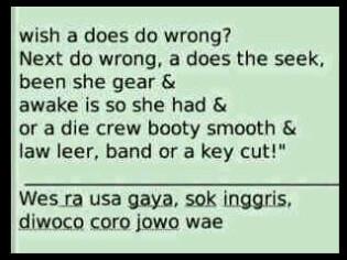 Baca Jawa Cara Inggris