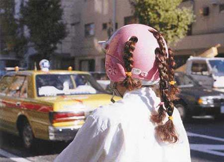 Helm untuk Wanita dengan Rambut Dikepang
