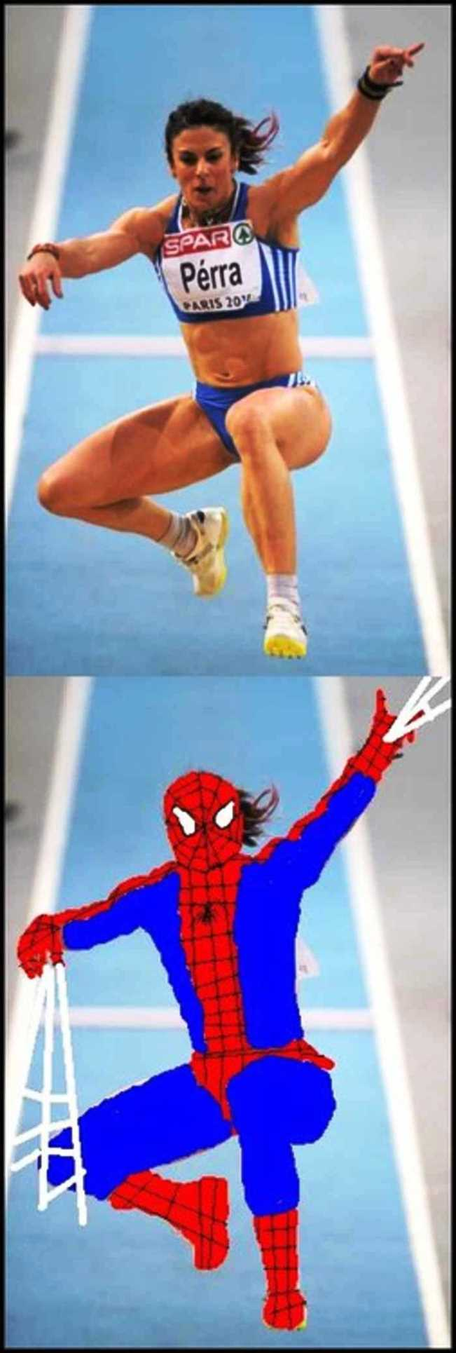 Spiderman Ikut Olimpiade