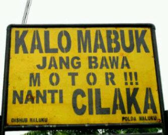 Rambu Lalu Lintas di Maluku
